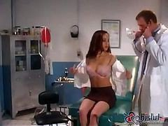 Nasty Doctor Examines Pretty Girl's Nice Body And Fucks Her A Minute Later
