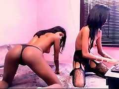 two sexy indian girls dancing provocatively on amateur webcam session