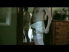 My Panty Boy Explodes in Giant Nylon Briefs - Part 1