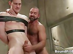 Josh and CJ in horny extreme gay bondage part4