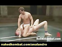 A Big Dicked Chiseled Stud Battles it Out on the Mat with an All