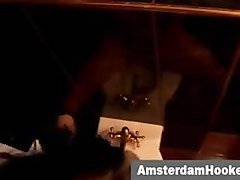 Amsterdam prostitute taking facial