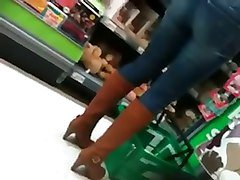 Thong Slip at Grocery Store