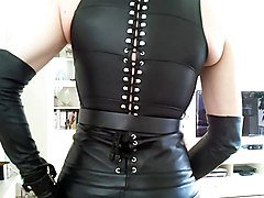 Sissy sexy in leather 9
