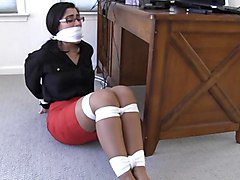 dangerous work-a girl could get herself tied up and gagged!