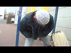 hot german slut fucked at the bus stop