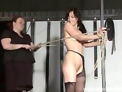 rough lesbian domination of slaveslut elise graves in hardcore bdsm punish