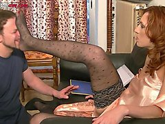 maintenance works - pantyhose foot domination trailer
