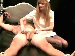 older guy tickled by a wicked nurse f/m tickling