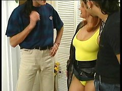 hairy bitch with swimsuit and nylons fucks german guy