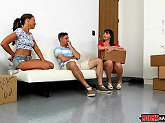 moms bang teen  - mom and stepdaughter share