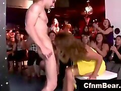 cfnm amateur party girls suck strippers in reality movie