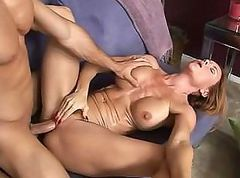 Redhead MILF is getting a good hot fucking in her wet pussy