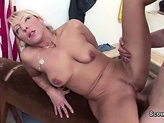 milf teacher seduce him to fuck after sport lesson