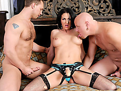 Roxanne Hall,Tom Moore,John Magnum in Pegging - A Strap On Love Story #02, Scene #03