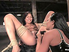 Fabulous fetish porn video with hottest pornstars Sandra Romain and Keeani Lei from Wiredpussy