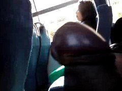 Flashing Chubby Girl Look My Cock In The Bus