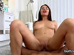 ravishing slender cutie gets her spread slit and small ass hole screwed