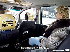 czech mature blonde hungry for taxi drivers cock