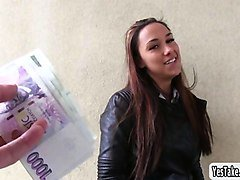hot euro babe victoria sweet flashes perky tits in public