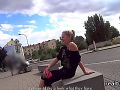 Charming czech cutie was tempted in the shopping centre and screwed in pov