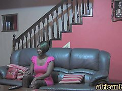African whore slammed by big cock