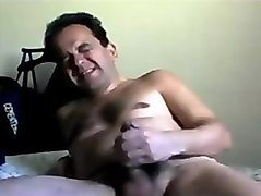 Hot mexican daddy wanking