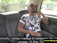 british cabbie interracial fuck and creampie