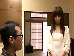 beautiful japanese girl empties her horny lover's balls in