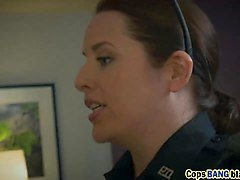 Horny police women arrested big cock