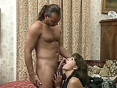 Lovely Lady in Stockings Takes Ass Fuck