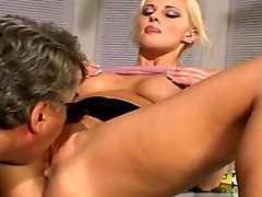 Star Amythiest Opens Wide For A Big White Cock