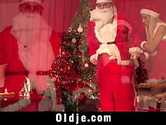hardcore gangbang for christmas sexy santa fucking 8 old men