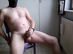 Bondage prostate massage with great cumshot