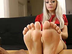 Pretty blonde with hot legs and feet